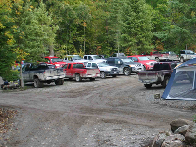 The Iron Wood Parking Lot- Head Lake, Ontario
