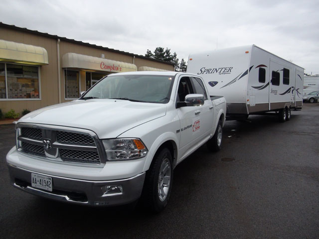 The Dodge Ram (2011 Truck King Winner) With Travel Trailer in Tow