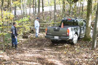Nissan Frontier Running The Off-Road Course.