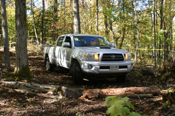 The Toyota Tacoma Running the Off-Road Course at IronWood.