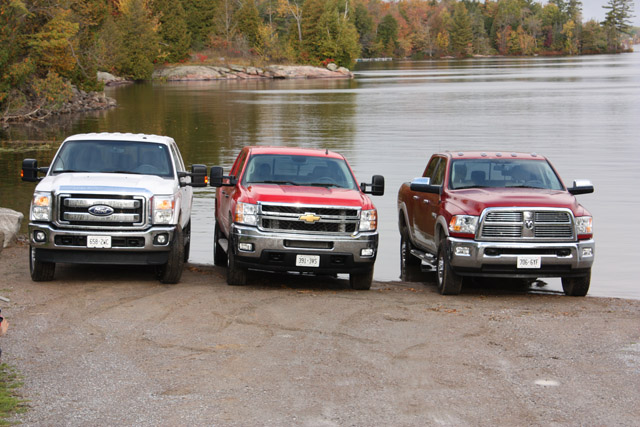 The Three Competitors in the 2011 Canadian Truck King Challenge: HD Edition