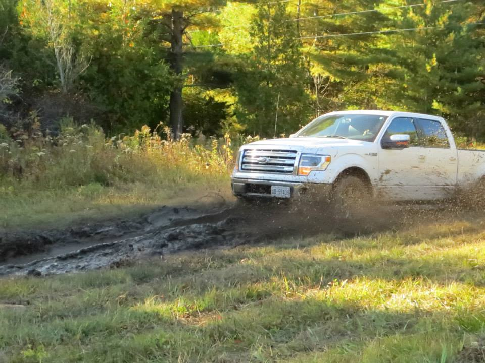 The Ford F-150 tackles the mud