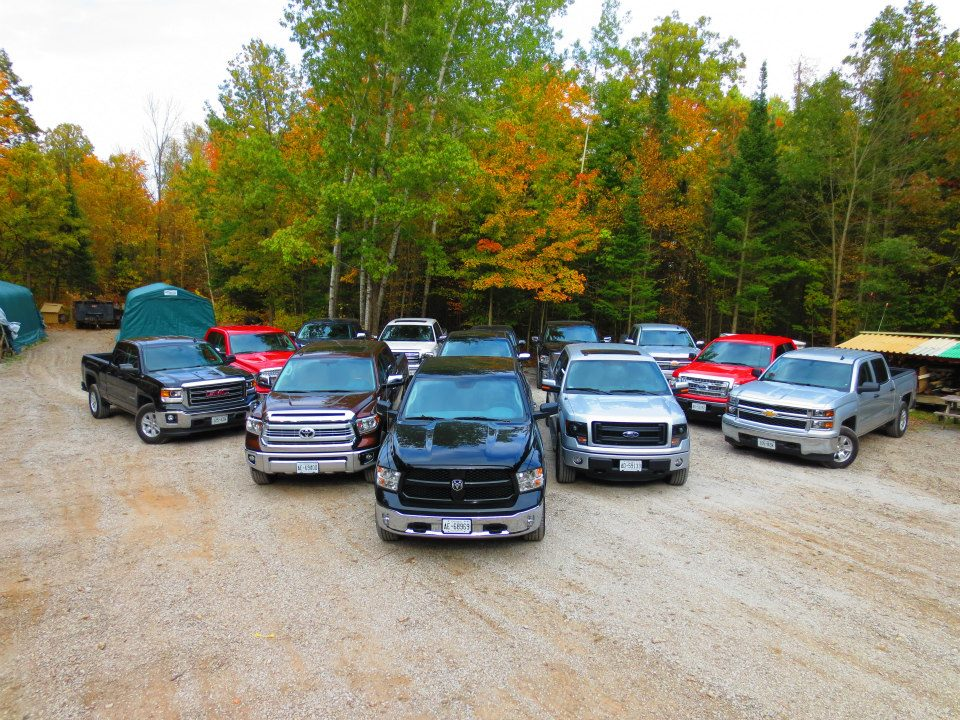The full light-duty Truck Lineup for the 2014 Canadian Truck King Challenge!